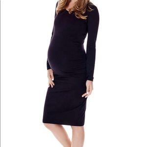 Basic black maternity dress
